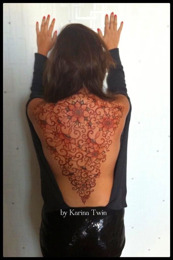мехенди на спине