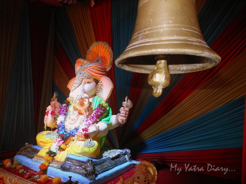 Ganesha with a bell, Ganesh Pandal Hopping, Mumbai