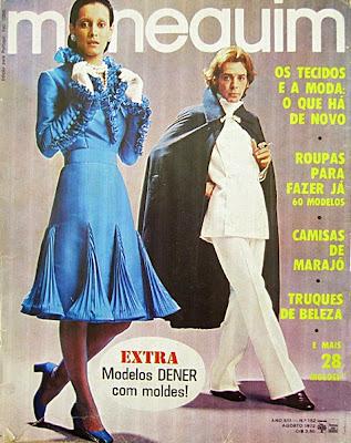 Capa revista Manequim 1972. anos 70; moda década de 70, moda feminina anos 70. história anos 70. Oswaldo Hernandez..