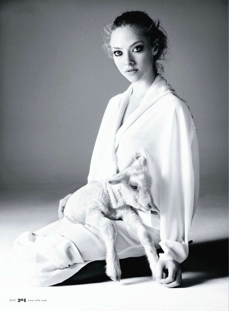 via fashioned by love | Elle US April 2011 (photography: Alexei Hay, styling: Joe Zee) | lambs in fashion editorials