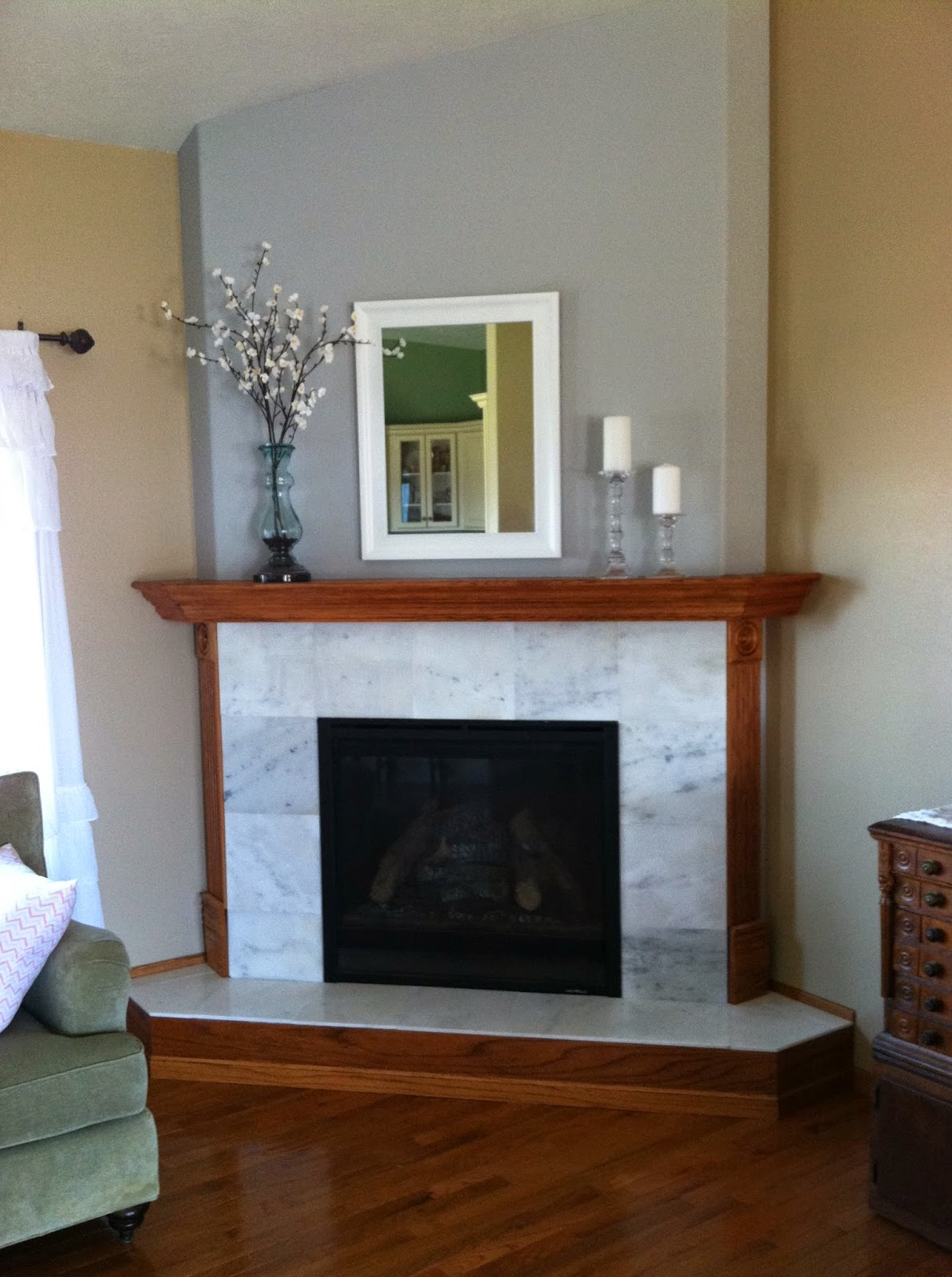 Natural Homemade Living Diy Fireplace And Mantel Project