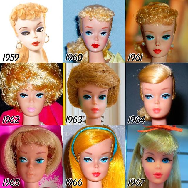 Evolução da Barbie de 1959 até os dias atuais