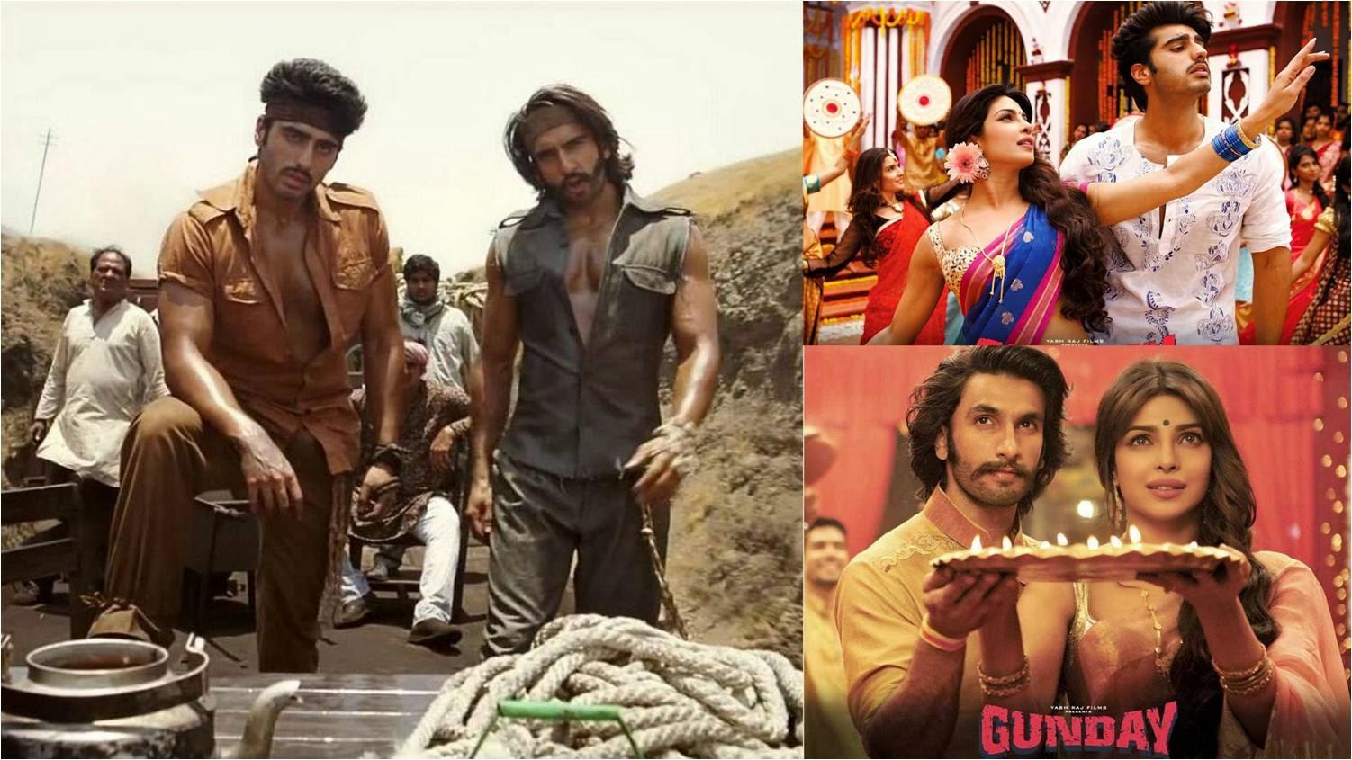 Arjun Kapoor, Ranveer Singh and Priyanka Chopra in Gunday movie stills
