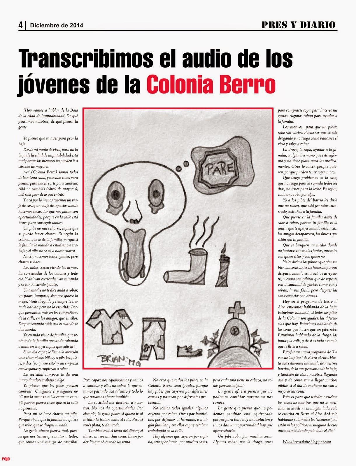 """EN EL DIARIO PRES Y DIARIO TRANSCRIBEN UN AUDIO DE """"BERRO AL AIRE"""""""