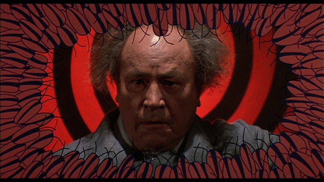 Upton Pratt (E.G. Marshall) infested with cockroaches in CREEPSHOW (1982)