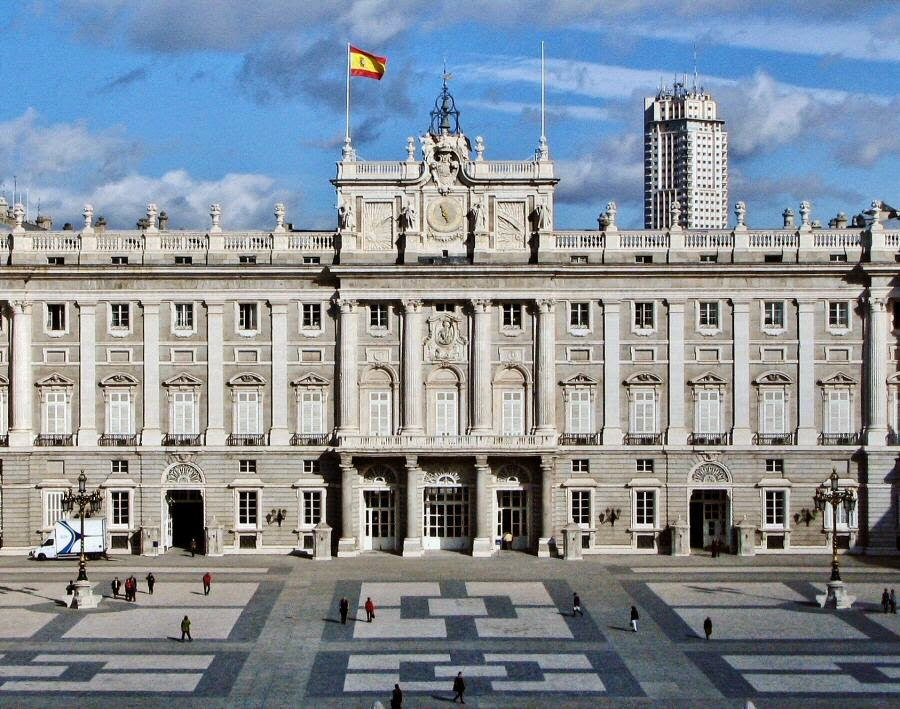 Palacio Real de Madrid en 1915
