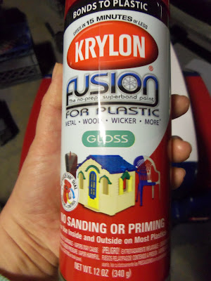 you can find the krylon fusion for plastic at your local walmart. Black Bedroom Furniture Sets. Home Design Ideas