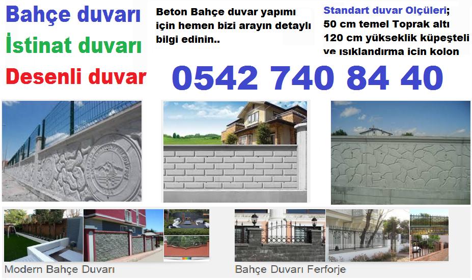 Bahçe duvarı Ankara 0542 740 8440