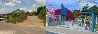 Projeto, planta, creche municipal