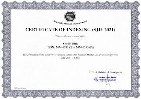 SJIF CERTIFICATE-2021