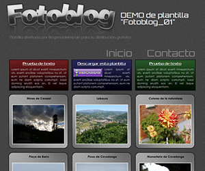 Descargar plantilla de Fotoblog_01 para blogger