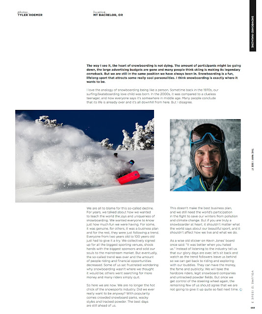 Josh Dirksen interview on snowboarding.