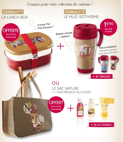 Yves Rocher: Lunch Box ou Mug Isotherme GRATUIT