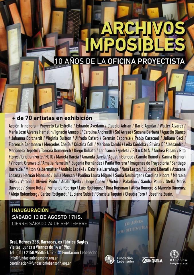 Archivos imposibles. Oficina Proyectista en la Fundación Lebensohn. 2016.