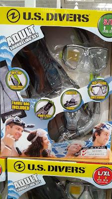 US Divers Adult Snorkeling Set: fins, goggles, snorkel