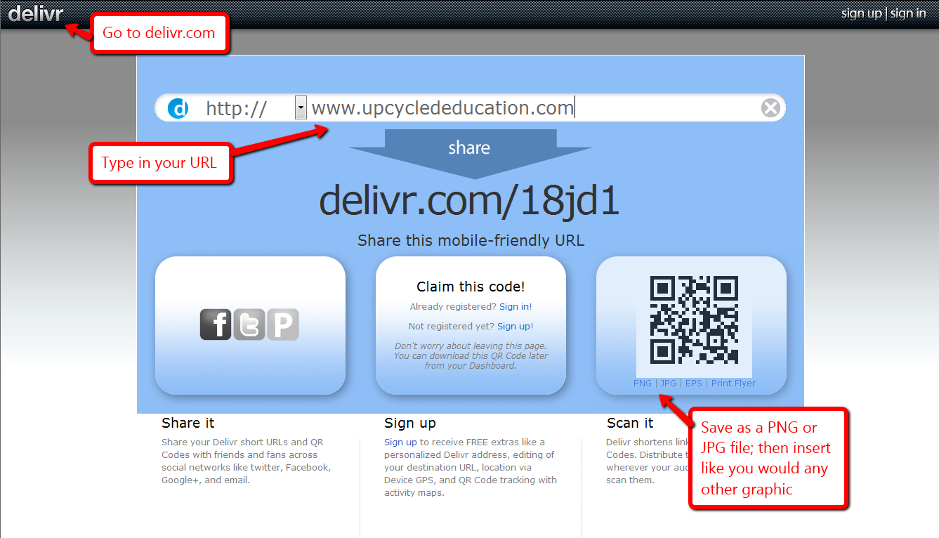 Upcycled Education: QR Codes with Delivr for Tech Tuesday