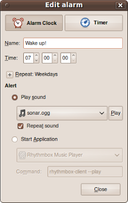 Ubuntu Alarm Clock