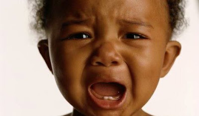 Crying African American Baby