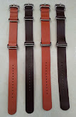 Leather Nato strap 5 rings