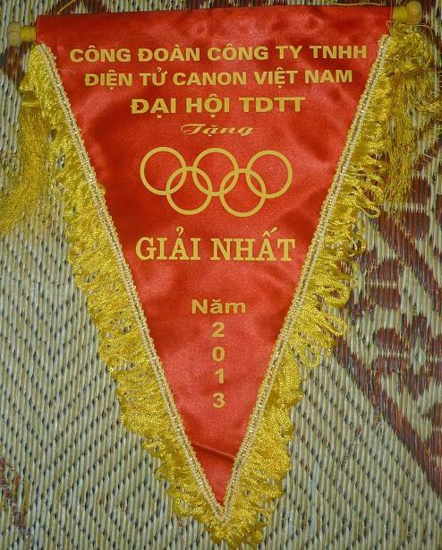 In cờ tam giác cho hội thi