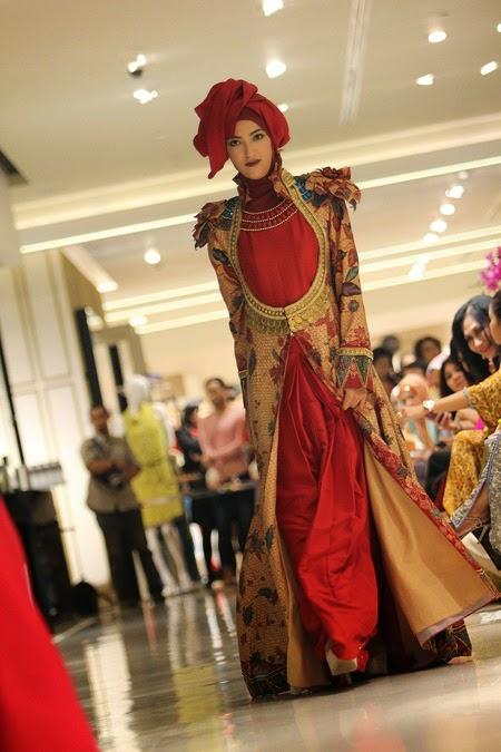 20 Contoh Model Baju Muslim Batik Terbaru Kumpulan Model