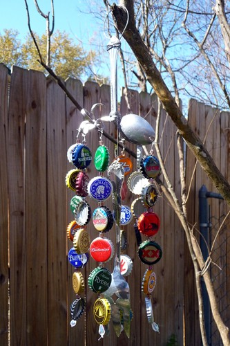 how to make wind chimes out of glass bottles
