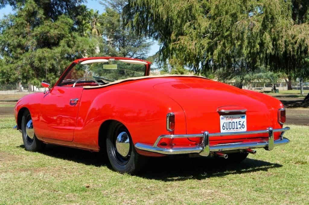 Rare Classic 1959 Karmann Ghia Low Light Convertible