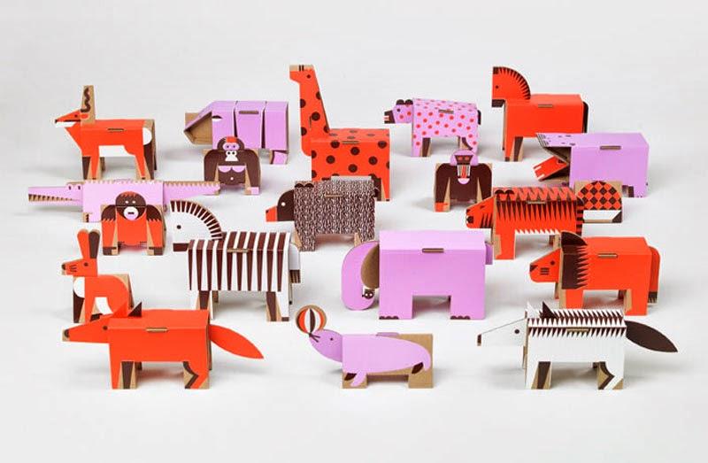 animales de cartón Papierowe Miasto