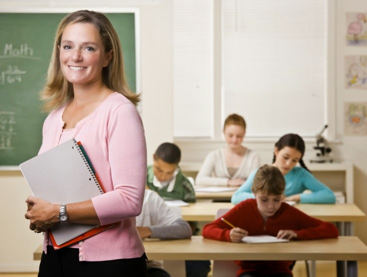 teacher-students in classroom