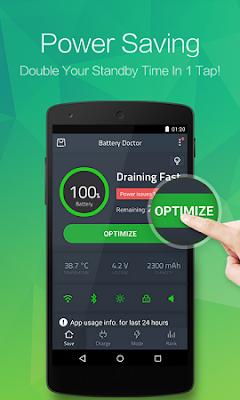 Aplikasi Penghemat Baterai Android Battery Doctor