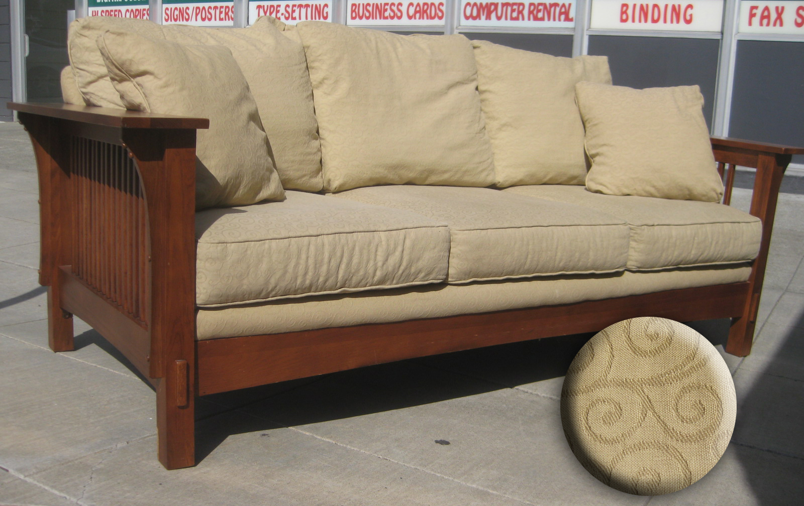 UHURU FURNITURE & COLLECTIBLES: SOLD - Mission-style Sofa - $290