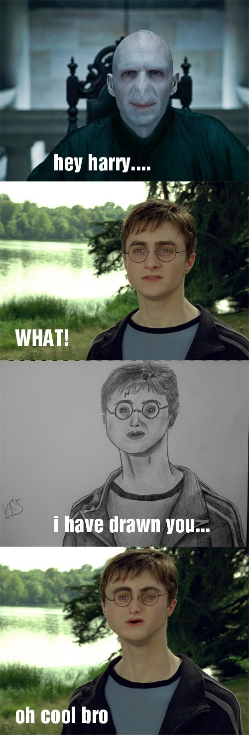 Voldemort's Mad Drawing Skillz