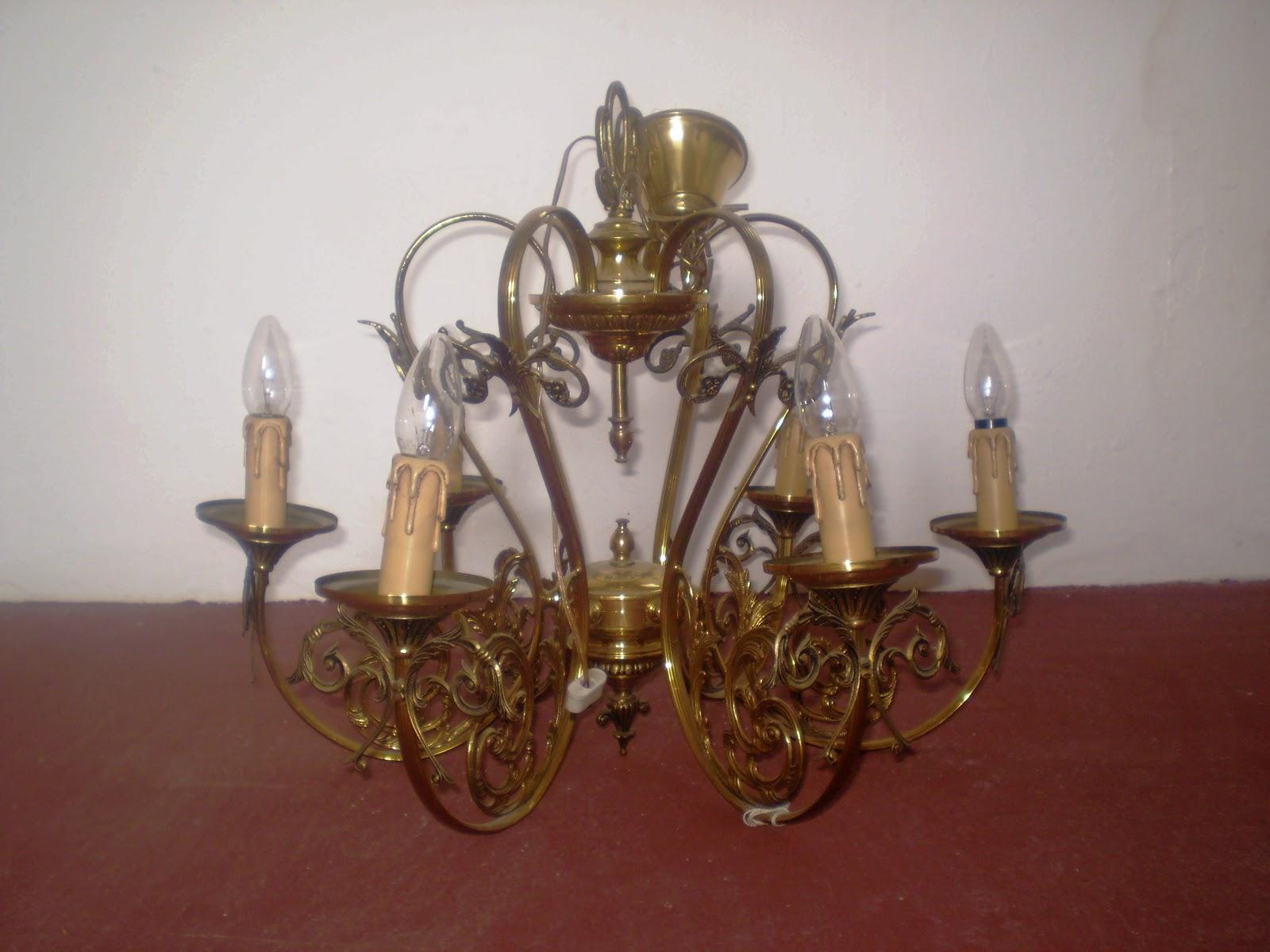 Restauracion muebles compra venta de lamparas antiguas - Lamparas de cristal antiguas ...