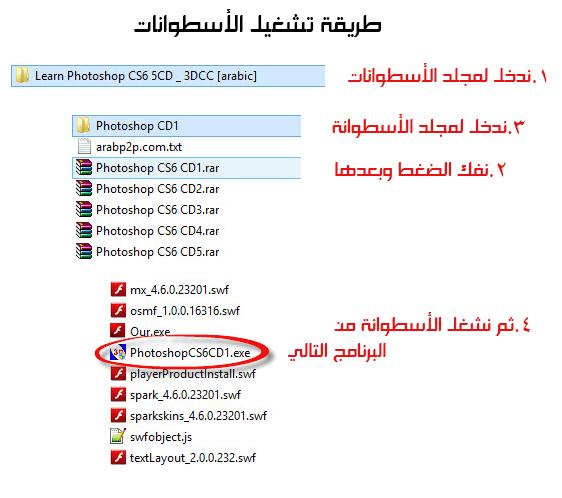 5 أسطوانات لتعلم Photoshop Cs6 بالعربية