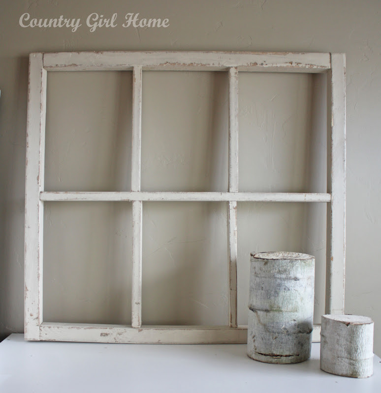 just love using old windows for decorating
