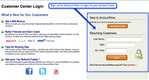 AccountNow Login - Sign up for Prepaid Visa Card