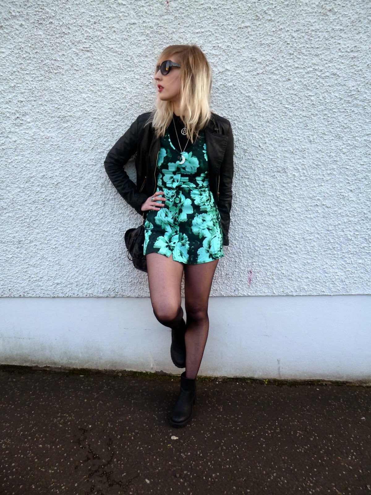 Motel Rocks Floral Mint Tea Dress