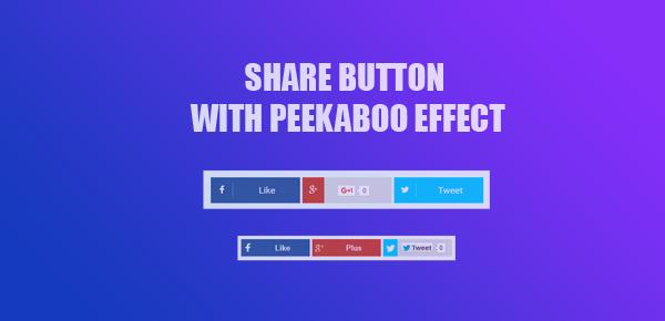 Cara Membuat Tombol Share di Blog dengan Efek Peekaboo