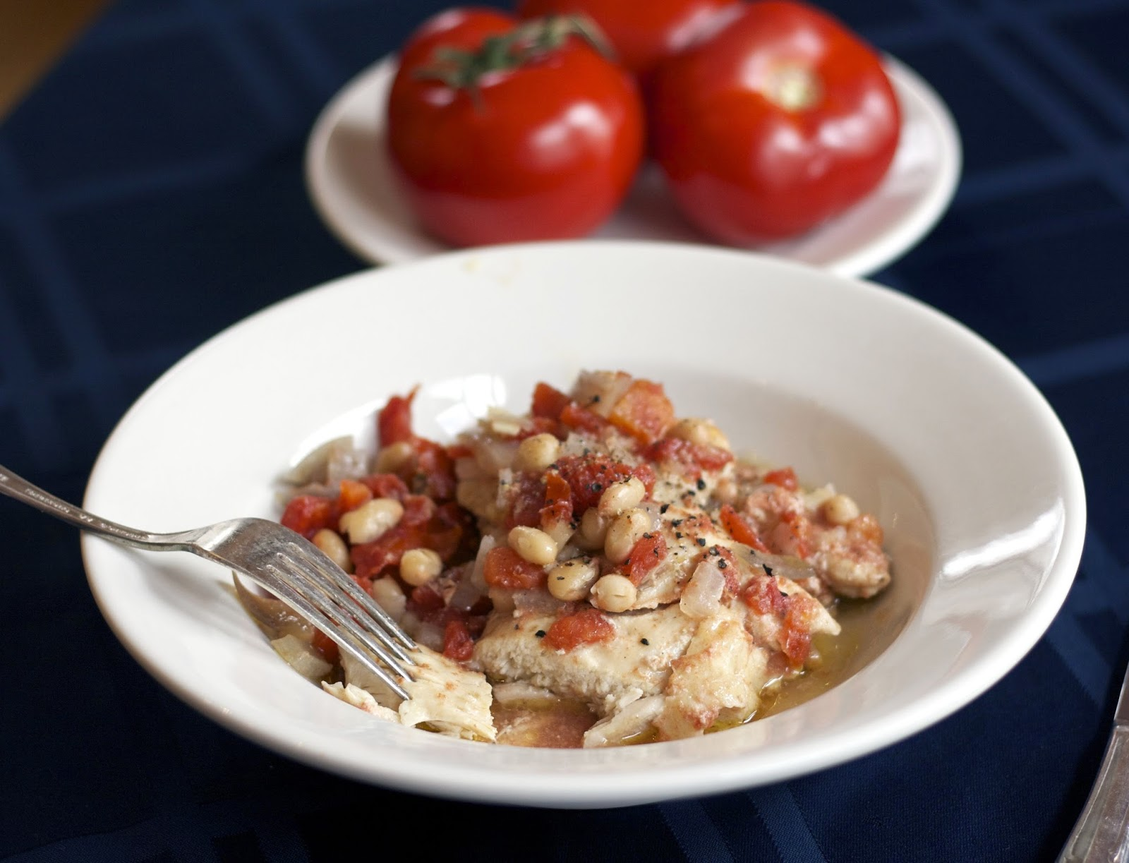 Millet with Thyme-Scented Chicken and White Beans- simplelivingeating.com