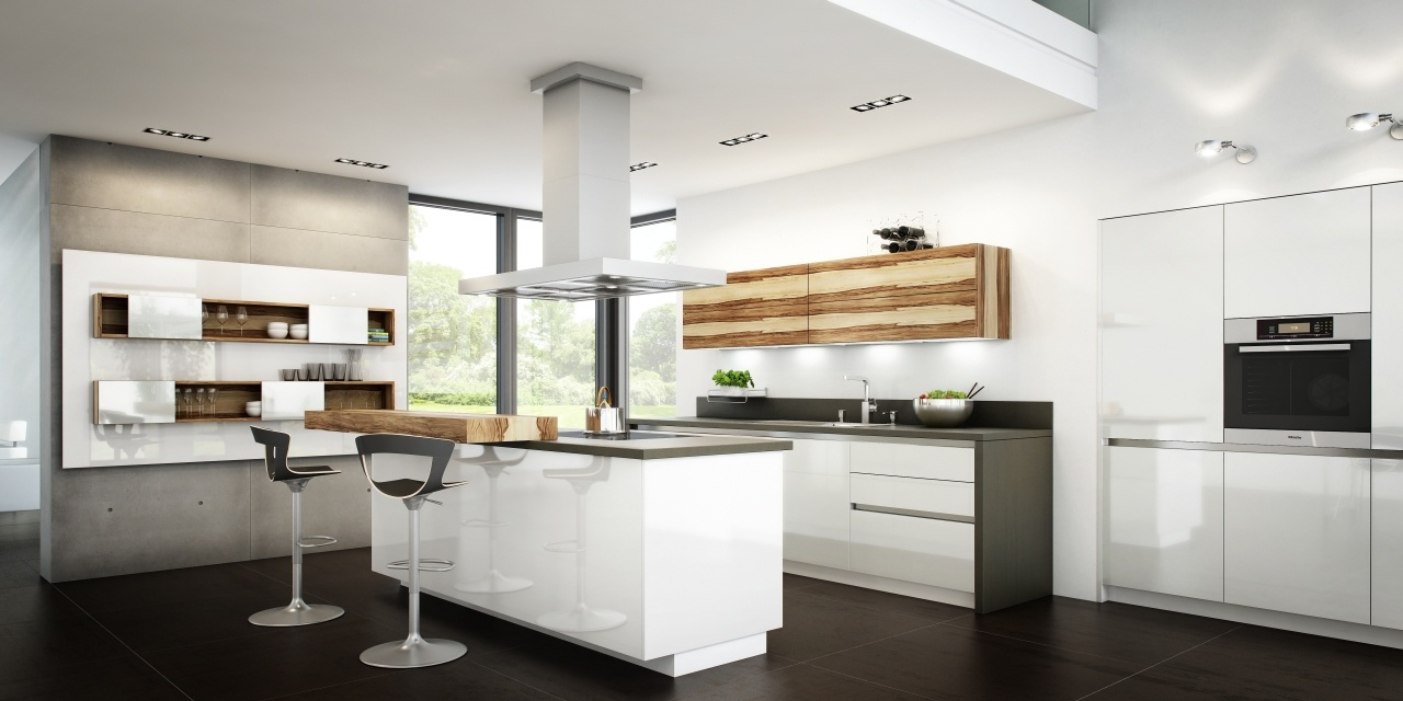Un toque vital en la cocina blanca cocinas con estilo for Cocina con vitroceramica