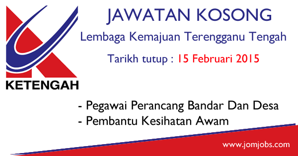 Jawatan Kosong Lembaga Kemajuan Terengganu Tengah (KETENGAH) 2015