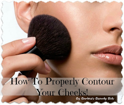 Tips on how to contour your cheeks by Barbie's Beauty Bits