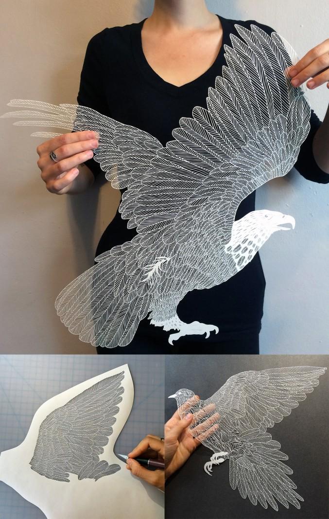 Arte detalhada em recorte de papel