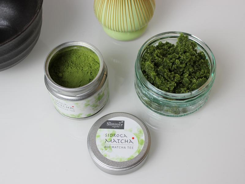 [diy] Peeling mit Bio Matcha Tee von Sidroga