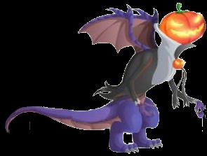 imagen del dragon halloween