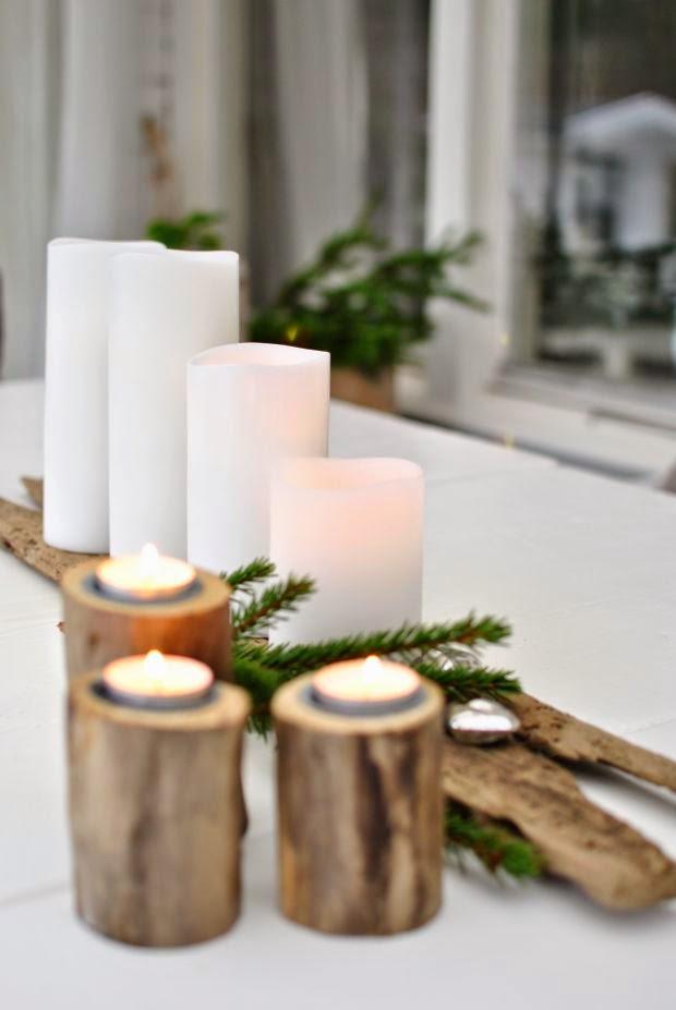 adventsljusstake drivved jul