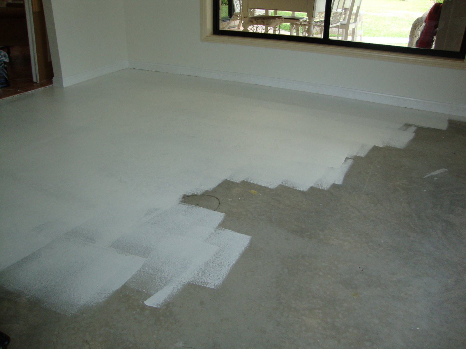 Painted concrete floors for What to clean concrete with