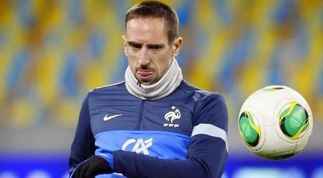 Ribery en un entrenamiento