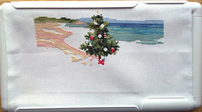 """Christmas on the Beach"" - the water and beach are starting to come through!"