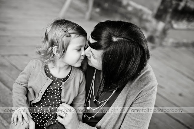 black and white photo of mom and daughter - Terre Haute Photographer